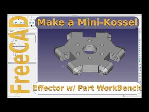 FreeCAD - Modelling 3d Printer Parts - Mini-Kosell Effector ( Hotend Mount )