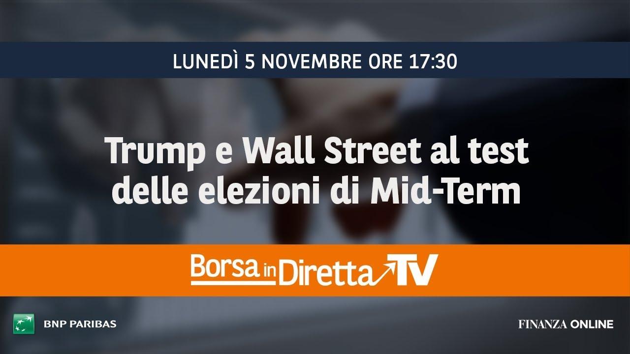 4ac7a918ad Trump e Wall Street al test delle elezioni di Mid-Term - FinanzaOnline