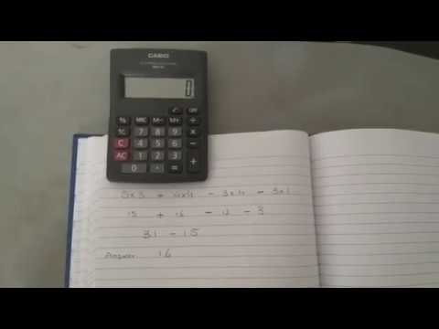 How to use a calculator with memory buttons