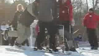 Furniture Races '07, Couch On Skis Hits Snowboarder