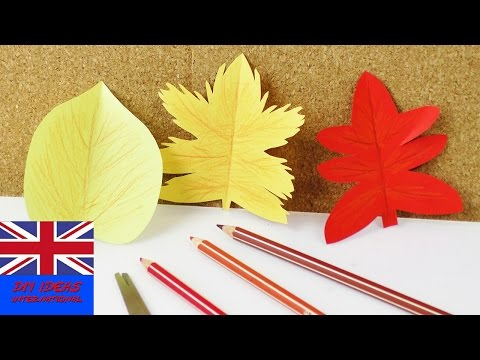 Make a Fall leaf! | Cute colorful leaves for the Fall | Cutting and coloring for kids