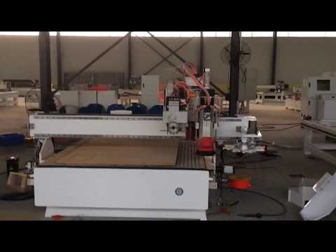ATC CNC router with drill bank and circular saws, China cnc router,