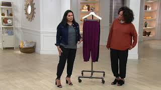 AnyBody Loungewear Cozy Knit Cargo Jogger Pants on QVC