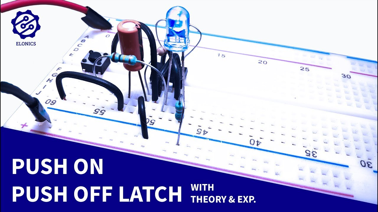 push on off latching circuit using a push button switch 555 timer projects [ 1280 x 720 Pixel ]