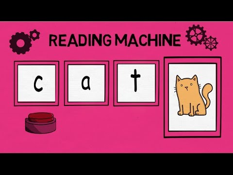 Reading machine, middle a, CVC words, blending 3 letter words