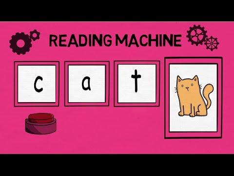 Reading machine, middle a, CVC words, blending 3 letter words