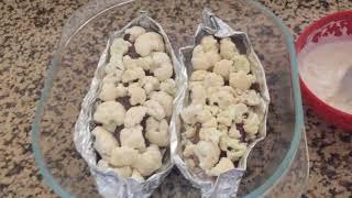 Запеченая тилапия под цветной капустой и сыром | легкий овощной салат |👩🍳 [BILYA]