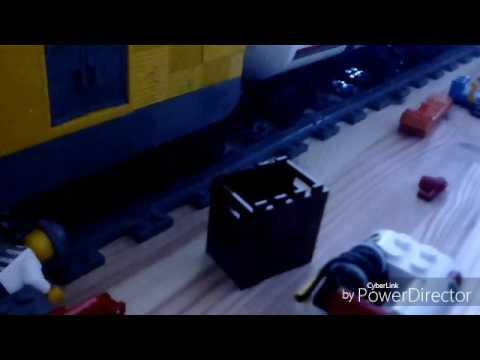 Des marchandises avec un train mais un accident de train se passe