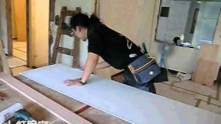 木工裝潢現場(天花板)--木工如何固定矽酸鈣板?