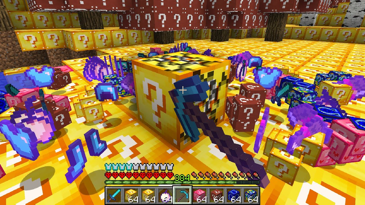 Minecraft UHC but there is too many LUCKY BLOCKS