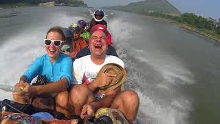Fast boat trip Laos to Thailand