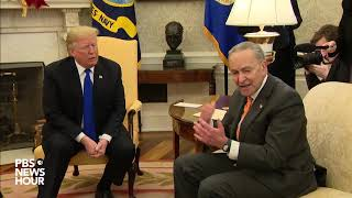WATCH: Trump threatens shutdown in heated meeting with top Democrats