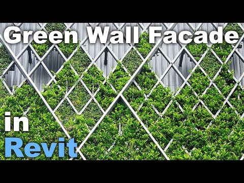 Green Wall Facade in Revit Tutorial * Family Download Link