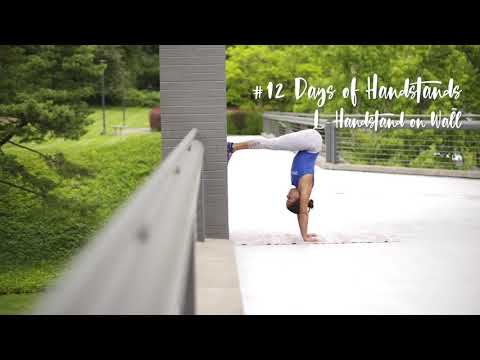 L-Handstand on the Wall | YogaSlackers 12 Days of Handstands