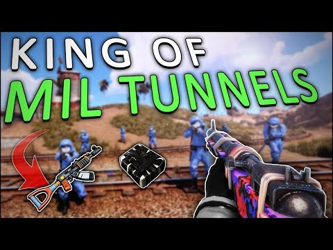 DOMINATING PLAYERS and SCIENTISTS in the MILITARY TUNNELS! - Rust Solo #3