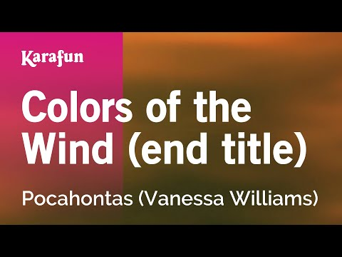 Karaoke Colors Of The Wind (End Title) - Pocahontas *