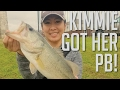 Kimmie Got Her PB! | Largemouth Bass Fishing in Bastrop, TX