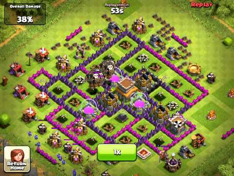 Clash Of Clans Lvl 6 Basic Balloon Attack