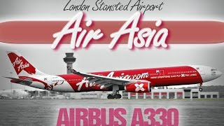 Air Asia X Airbus A330 - London Stansted Airport - AirAsiaX, FedEX 777 MD11, Iceland Air Cargo 757