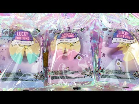 Lucky Fortune Blind Bag Fortune Cookie Charm Bracelet Unboxing Toy Review Wear Your Luck