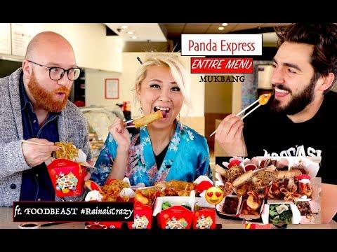 ENTIRE MENU of PANDA EXPRESS MUKBANG | RainaisCrazy | w/ Foodbeast