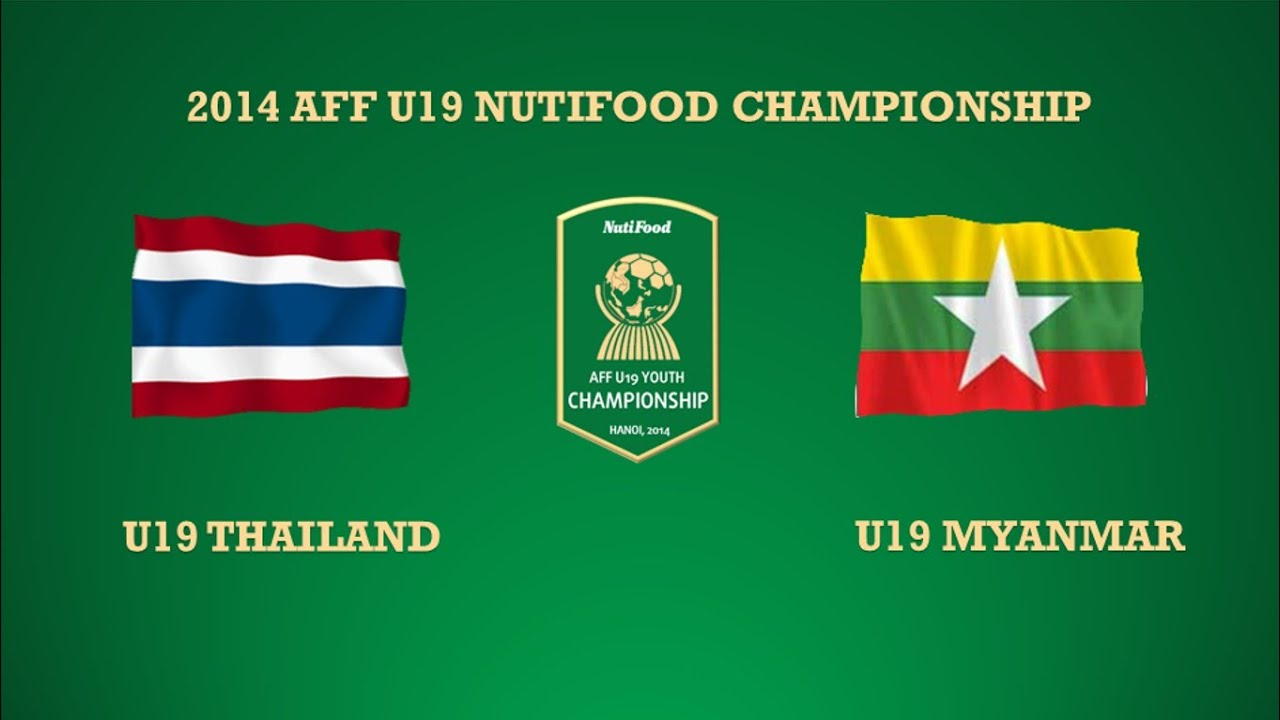 Full U Thailand Vs U Myanmar Group A  Aff U Youth Championship Youtube