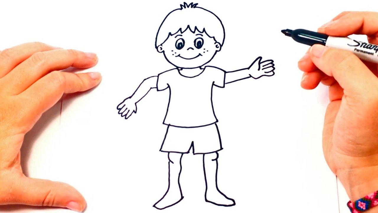 Cómo Dibujar Un Niño Paso A Paso Dibujo Fácil De Niño