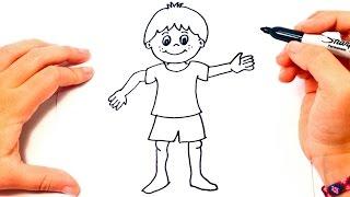 Cómo dibujar un Niño paso a paso | Dibujo fácil de Niño