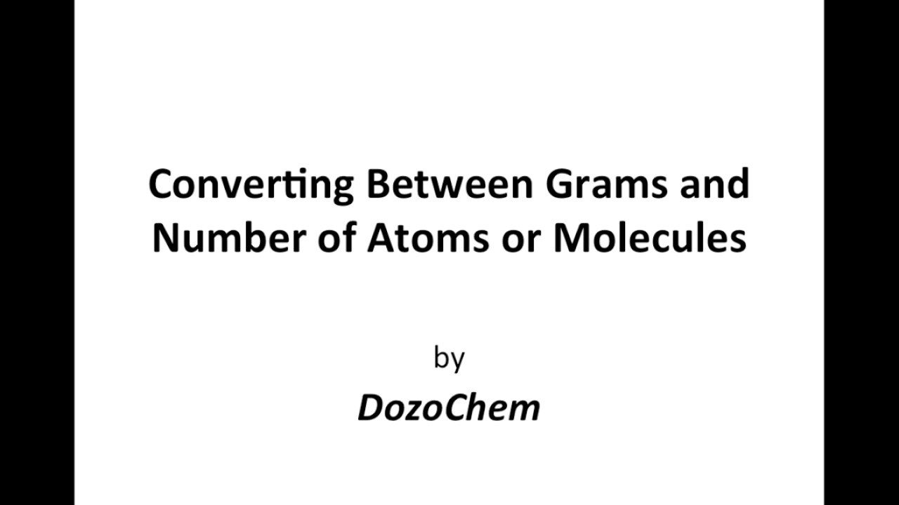 Converting Between Grams and Number of Atoms or Molecules