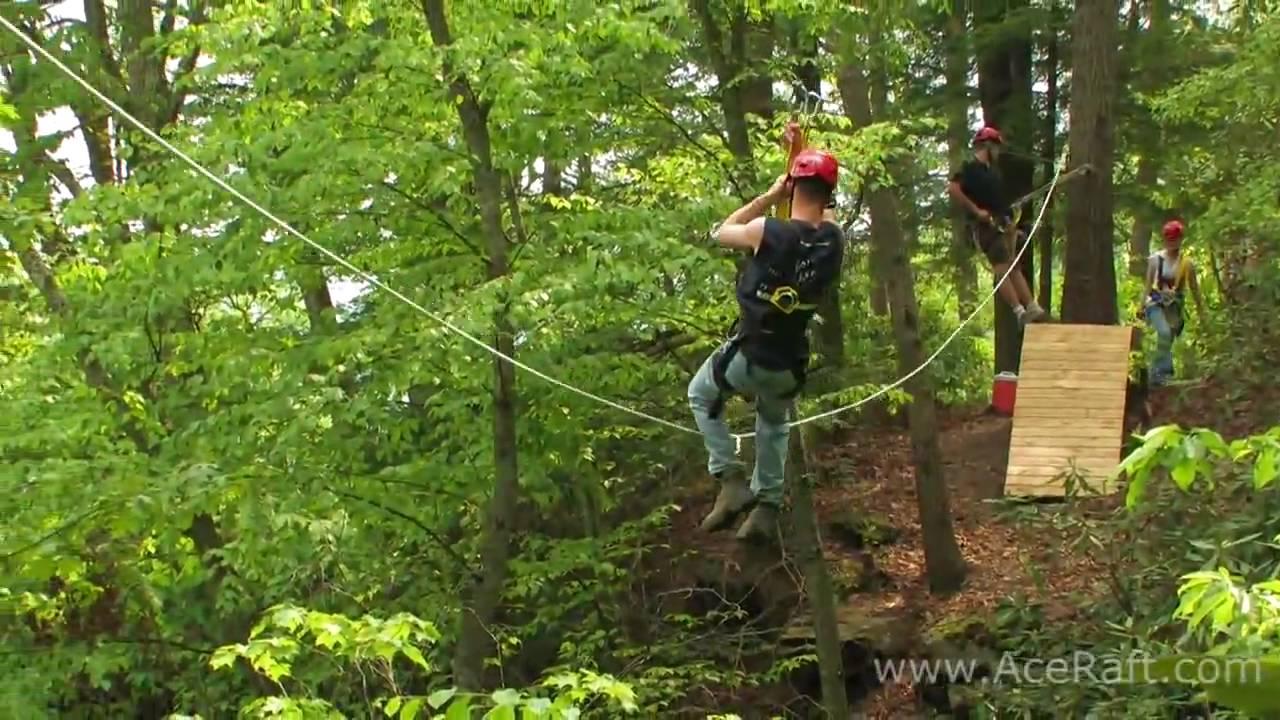 Zip Lining Through The Trees Ace Adventure Resort Youtube