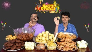 Mega Home Made Sweet Thali Eating Challenge | Indian Sweets Challenge | Saapattu Raman |
