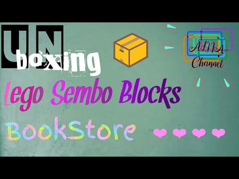 Video Pertama!-Unboxing Lego Sembo Blocks BookStore (Indonesia)-AlNa Channel ❤