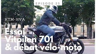 Ep.25 Essai de la Husqvarna Vitpilen et débat Moto-Vélo chez KTM-Paris