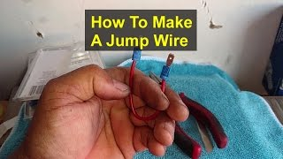 How to make a jump wire for testing relay sockets. - VOTD