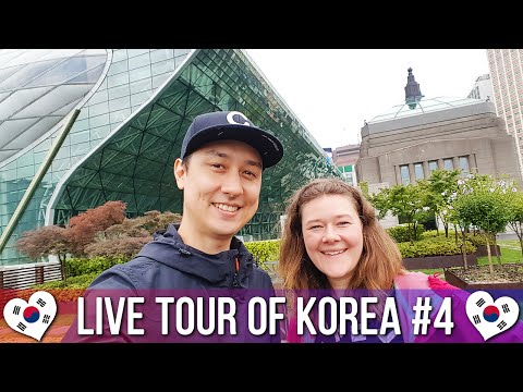 Seoul City Hall & Over The Dish Food Court 서울시청 - 🇰🇷 LIVE TOUR OF KOREA #4