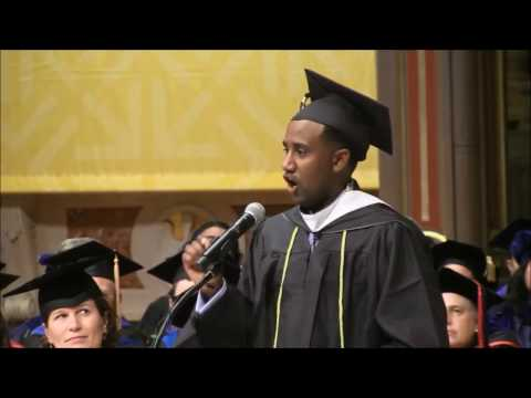 Eritrean Meron Semedar - Fall 2016 University of San Francisco Grad Commencement Speaker
