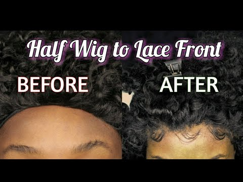 Broke B*tch Series Pt 2 | Transforming a Half Wig Into a Lace Frontal