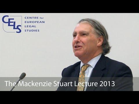 'Interesting Times': 2013 Mackenzie Stuart Lecture - Judge Nicholas Forwood