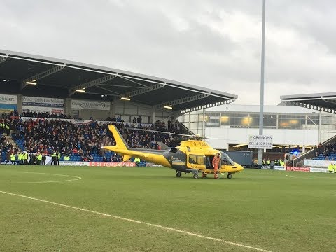 Match suspended Chesterfield v Lincoln after air ambulance called for spectator | 10/03/2018
