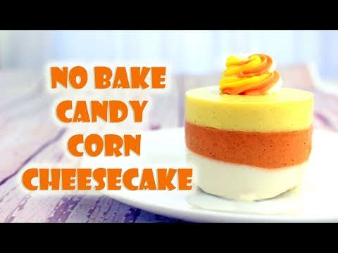 No Bake Candy Corn Cheesecake || Gretchen's Bakery