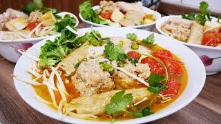 BÚN RIÊU CUA - Cách nấu Bún riêu Cua từ Cua Hộp và cách tự làm Bún tại nhà by Vanh Khuyen