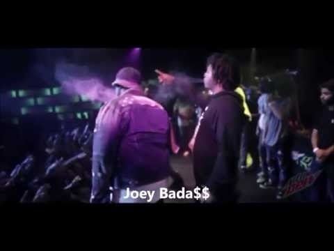 Joey Bada$$ Performs ''Survival Tactics'' With Wiz Khalifa And Smoke DZA