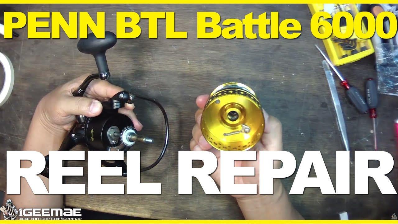 Reel repair penn btl battle 6000 spinning reel replacing gear reel repair penn btl battle 6000 spinning reel replacing gear pooptronica Images