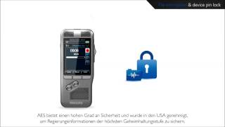 Philips Digital Pocket Memo - Hohe Datensicherheit