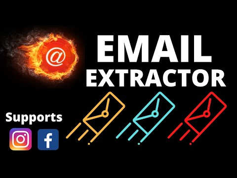 Email Extractor 2020-Extract Emails From Facebook And Instagram