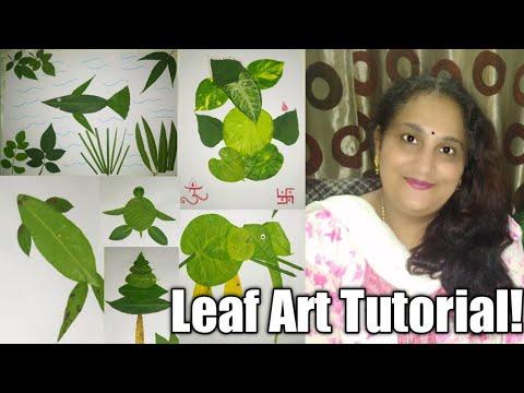 LEAF ART TUTORIAL! How To Do Do Leaf Art!