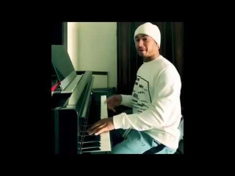 Lewis Hamilton Playing The Piano