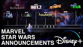 Disney+: Marvel/Star Wars Obi Wan reveals from D23 Expo 2019! Announcement footage!