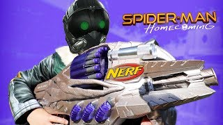 NERF Spider-Man Homecoming Movie Gear Test! VULTURE GUN! Toys Review by KIDCITY