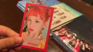 [TWICE] unboxing 17 Summer Nights & Trade cards with Sam